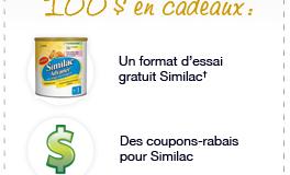 Échantillons gratuit et coupons rabais Similac !