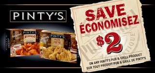Coupons rabais 2$ produits Pinty's !