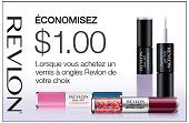 Coupon rabais 1$ Vernis à ongles Revlon !