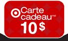 Carte cadeau 10$ avec achat Target