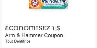 Coupon rabais Arm & Hammer – 1$