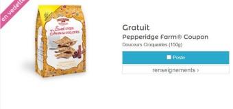 Gratuit Pepperidge Farm Douceurs Croquantes