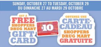 Carte cadeau de 10$ de Pharmaprix avec achat de 50$ ou plus!