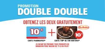 Promotion Double Double chez Pharmaprix!