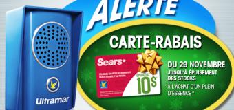 Alerte Ultramar: Carte-Cadeai 10$ Sears Gratuite !