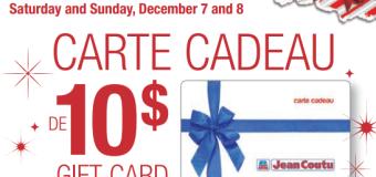 Carte cadeau Jean Coutu 10$ gratuite avec achat !
