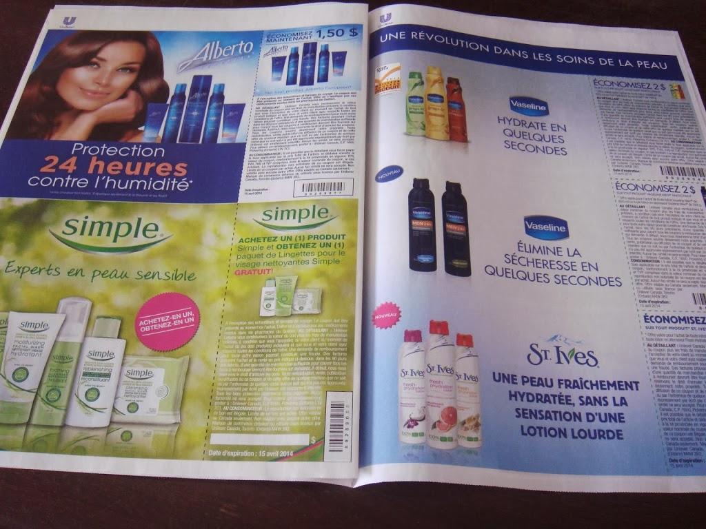 Liste des coupons rabais carnet Unilever!