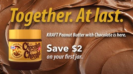 Coupon rabais 2$ beurre d'arachides chocolat Kraft