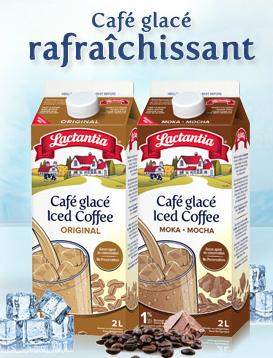 Coupon rabais de 1$ sur le café glacé de Lactantia!