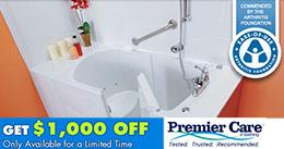 Brochure et coupon rabais de 1000$ bains Premier Care