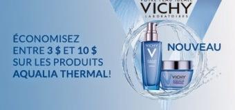 Économisez entre 3$ et 10$ sur les produits Aqualia Vichy Thermal chez Uniprix!