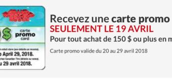 Canadian Tire 30$ Carte Promo aujourd'hui seulement!